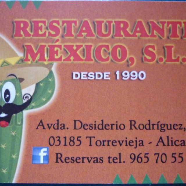 RESTAURANTE MEXICO SL